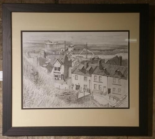 Drawing 17 - Whitby Rooftop Views - Christine Redhead