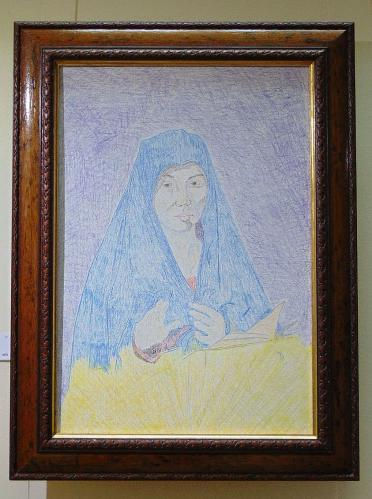Drawing 1 - Virgin Mary - Fred Bates