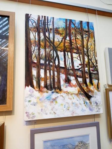 Winter Riverbank - Val Jeffries