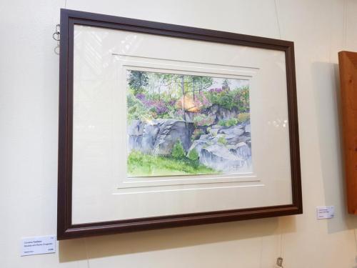 Rhodies and Rocks (Cragside) - Christine Redhead
