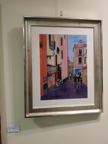 A Street in Positano - Des Scott