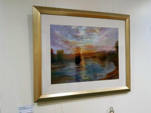 Lake at Sunset after JMW Turner - Peter Stewart