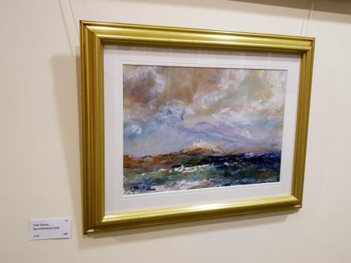 Sea off Bamburgh Castle - Peter Stewart
