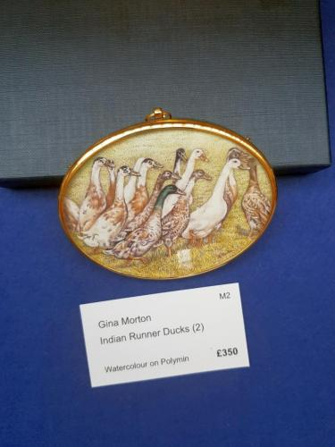 Miniature - Indian Runner Ducks (2) - Gina Morton