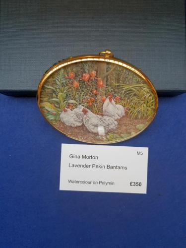 Miniature - Lavender Peking Bantams - Gina Morton