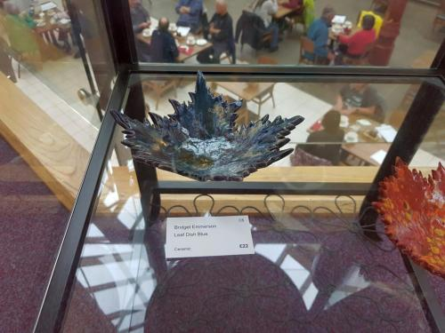Craft - Leaf Dish Blue - Bridget Emmerson
