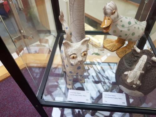 Craft - Cat (Smoked Pottery, Raku) - June Ruby Reeve
