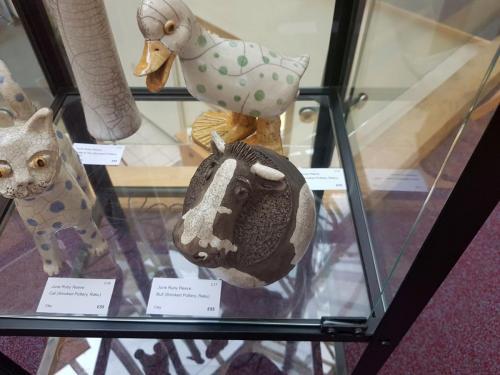 Craft - Bull (Smoked Pottery, Raku) - June Ruby Reeve